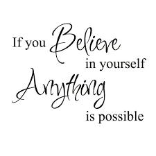 Believe In Yourself Inspirational Motivational Kid Quote Lettering Decor Saying Sticker Art Vinyl Large Wall Decal Decoration White Medium Richard L Musgraveert