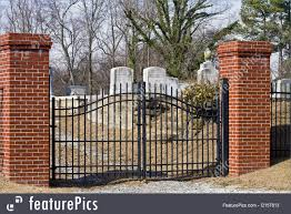 Architectural Details Graveyard Gate Stock Picture I2157813 At Featurepics