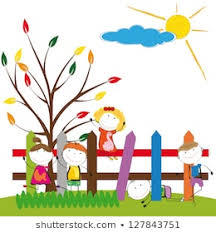 Child Painting Fence Images Stock Photos Vectors Shutterstock