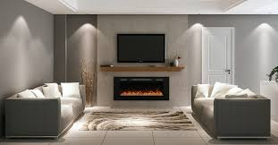 electric fireplaces give a classical