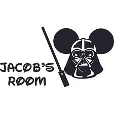 Darth Mickey Mouse Design Customized Wall Art Vinyl Decal Custom Vinyl Wall Art Personalized Name Baby