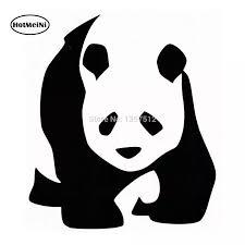 Hotmeini Giant Panda Bear Car Window Stckeir Vinyl Decal 11cm Car Stickers Aliexpress
