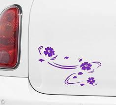 Amazon Com Yadda Yadda Design Co Floating Cherry Blossoms Sakura Car Vinyl Decal Sticker 5 75 W W X 3 75 H Copyright Variations Available Purple Left Automotive
