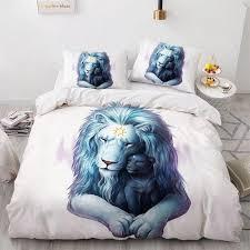3d animal yin yang design bed linen
