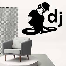 Fashion Dj Music Vinyl Wall Sticker For Living Room Decoration Decals Bedroom Wallpaper Art Mural Wall Decal Wall Stickers Aliexpress