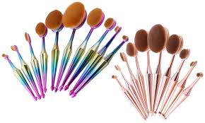 up to 78 off on oval makeup brush set