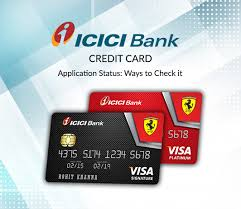 icici credit card status check how to