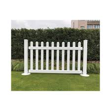 Signature Fencing Special Event Portable Pvc Fencing Picket Style Hoover Fence Co