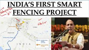 India S First Smart Fencing Project India Pakistan Border India Pakistan Relations Youtube