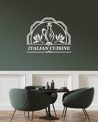 Vinyl Wall Decal Italian Cuisine Food Italia Restaurant Kitchen Decora Wallstickers4you