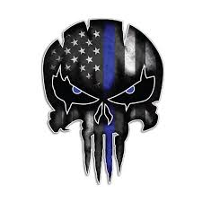 Skull Decal For Car Vinyl Police Window Motorcycle Laptop Truck Army Navy Military For Jeep Sticker Bumper Reflective Sticker Car Stickers Aliexpress