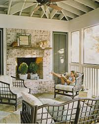 screened porch dream porch fireplace