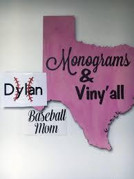 Baseball Vinyl Decal Baseball Mom Vinyl Decal Custom Etsy
