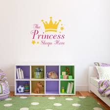 The Princess Sleeps Here Decal Princess Crown Wall Sticker Etsy