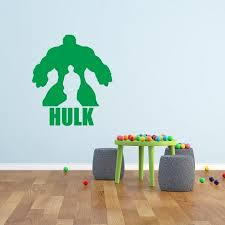 Avengers Hulk Wall Decal Wallstickers By Glix Color Green Dimensions Width X Height 60x40 Cm