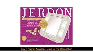 jerdon j1015 led lighted makeup mirror