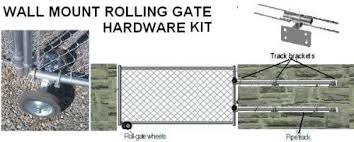 Wall Mount Fence Rolling Gate Hardware Kit Chain Link Gate Parts Wall Sliding Gate Kit Amazon Com