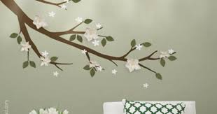 Magnolia Branch With 3d Flowers Leaves