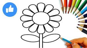 تعلم كيف ترسم و تلوين وردة A Rose رسومات اطفال العاب تعليمية