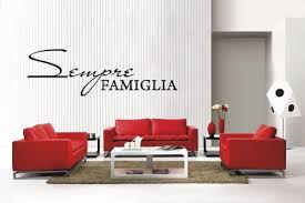 Newclew Sempre Famiglia Italian Always Forever Family Removable Vinyl Wall Decal Home Decor Large Italian Home Decor Olivia Decor Decor For Your Home And Office