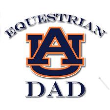 Auburn Equestrian Dad Decal Equestrian Fan Gear