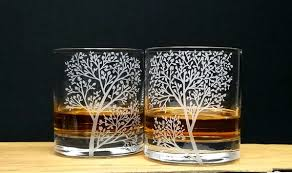 whiskey glasses personalized crystal
