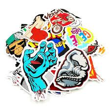 100 Pcs Pack Random Music Film Vinyl Skateboard Guitar Travel Case Sticker Car Decal Cute Stickers 5309411 2020 5 74