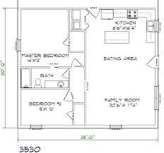 barndominium floor plan 2 bedroom 1