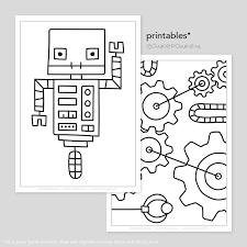 Robot Printable Kleurplaten Tekeninstructies