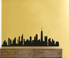 Chicago Skyline Vinyl Wall Decal Or Car Sticker Ss047ey Contemporary Wall Decals By Vinyl Disorder Inc
