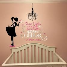 Some Girls Are Born With Glitter In Their Veins Decal Girls Etsy Inspirational Wall Quotes Girls Wall Decals Vinyl Lettering