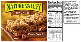 nature valley crunchy pecan crunch