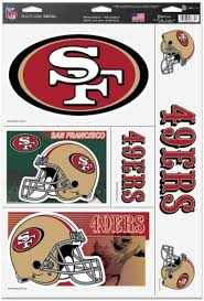 Amazon Com Wincraft San Francisco 49ers Official Nfl 11 Inch X 17 Inch Car Window Cling Decal By 037534 Automotive Decals Sports Outdoors