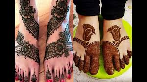 mehndi designs for legs for marriage