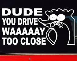 Rigby Regular Show Funny 4x4 Ute Car Stickers Too Close 200mmsticker Vinyl Decals Car Window Decal 20cm Lazada Ph