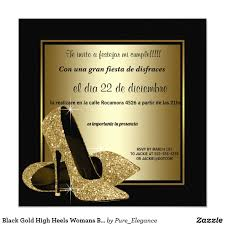Invitacion Fiesta Del Cumpleanos Del Oro De La Mujer Negra De