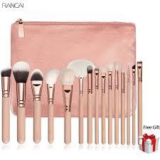 10 makeup brushes set pincel maquiagem