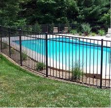 China Flat Top Powder Coated Aluminium Corrugated Metal Fence Panels For Swimming Pool China Fence Pool Fence