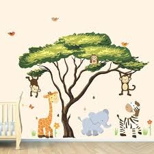 Jungle Book Wall Decals Jungle Wall Stickers Colorful Large Wall Decals With Jungle Wall Browse This Col Animal Wall Decals Murals For Kids Jungle Wall Decals