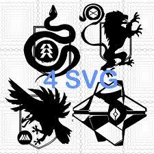 Destiny 2 Hunter Titan Warlock Class Logo Emblem By Digital4u On