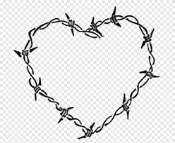 Barbed Wire Drawing Heart Leaf Outdoor Structure Png Pngegg