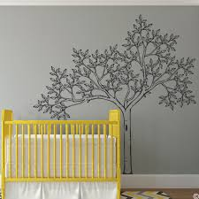 Sketched Tree Wall Decal Mural For Nursery Wall Art