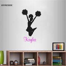 Joyreside Cheerleader Custom Personalized Name Wall Decal Vinyl Sticker Sports For Bedroom Decor Art Home House Decoration A030 Aliexpress