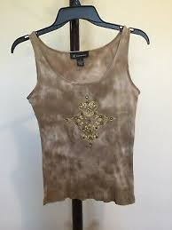 scoop neck sleeveless tan 100 cotton