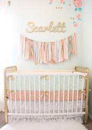 mint and gold nursery