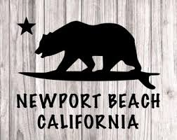 Newport Beach Decal Etsy