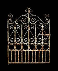 antique wrought iron pedestrian side