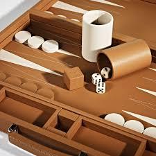 beige backgammon board