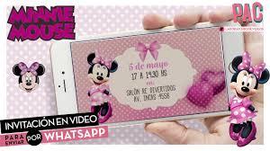 Pac Invitacion Personalizada Para Enviar Por Whatsapp Minnie