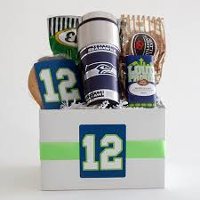 161a snack gift basket with nfl seattle
